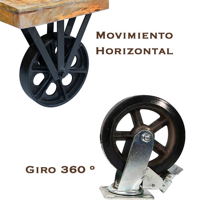 Tipos de ruedas rústicas