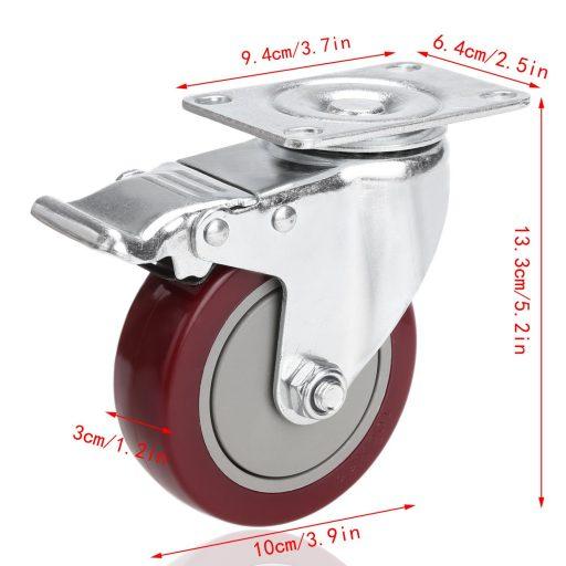 Medidas de la rueda Meditool 4Pcs 100mm