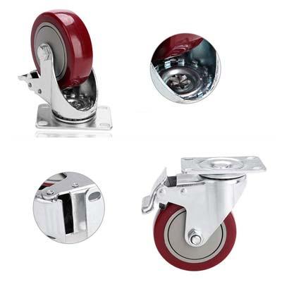 comprar online rueda Medittool 100mm con freno en las cuatro ruedas