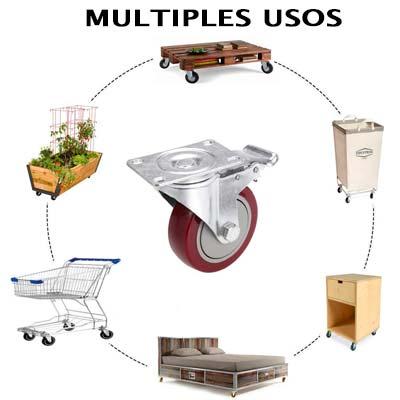 comprar Ruedas Medittool 100mm carros, jardineras, palets, muebles