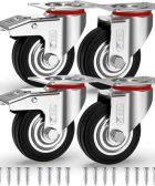 Ruedas GBL 75mm para muebles pesados